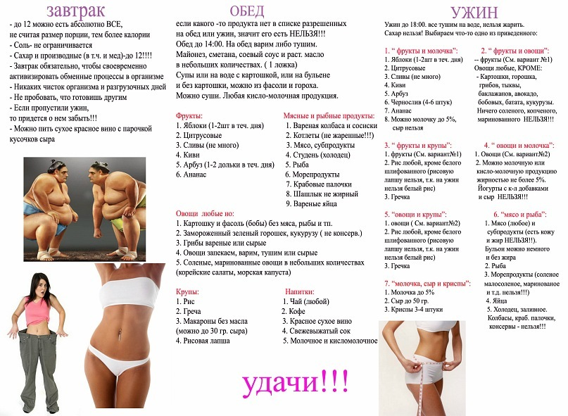 программа похудения сайт